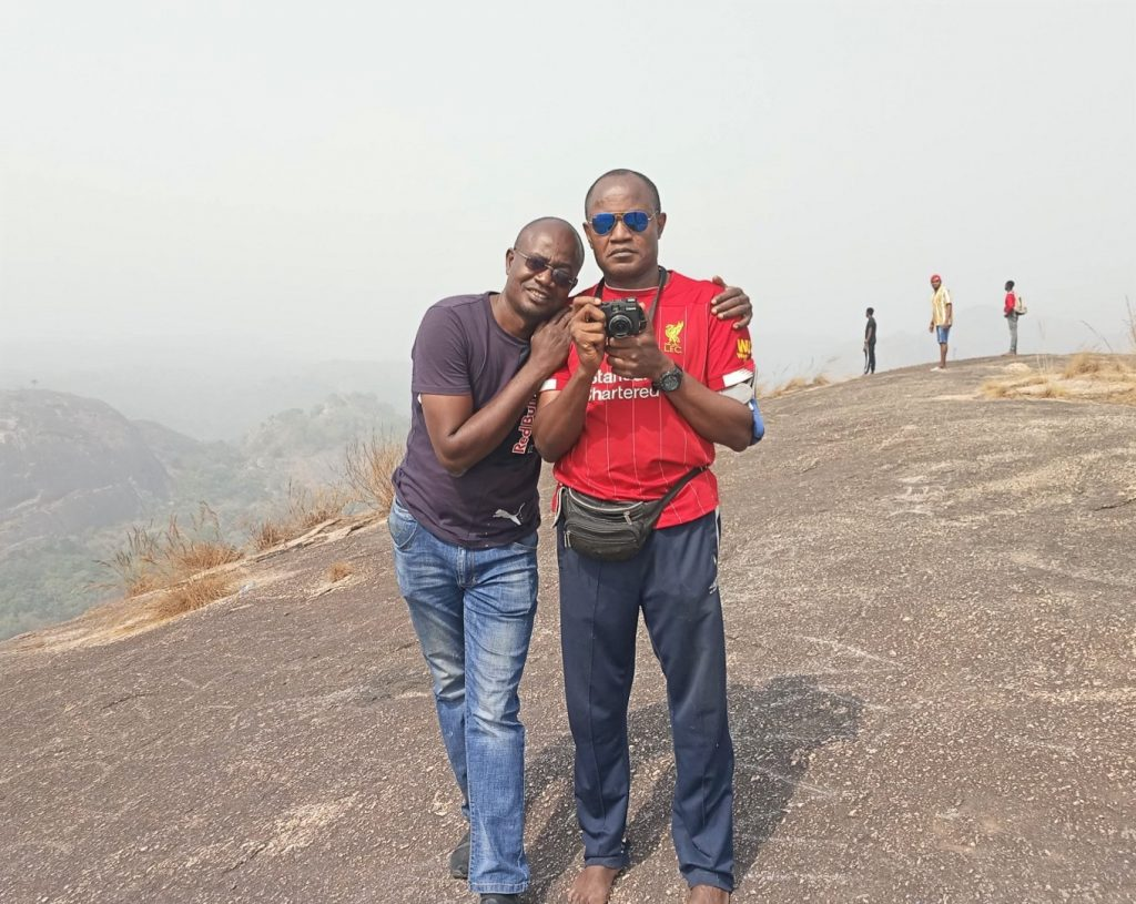 With my brother at the peak